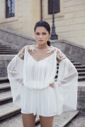 SILK TULLE EMBROIDERED TOP