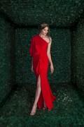 MALVINA LONG ONE SHOULDER DRESS