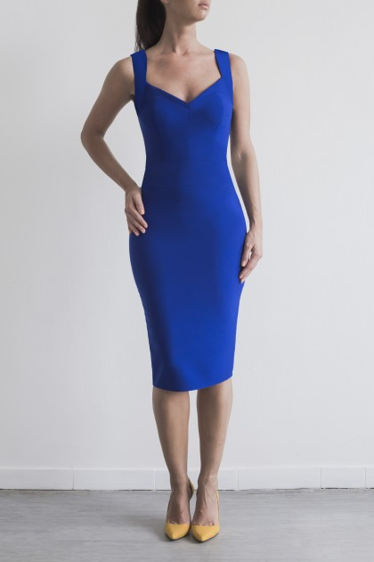BODYCON CREPE DRESS
