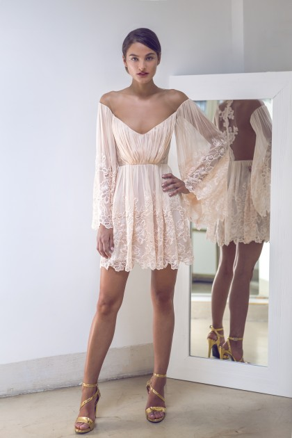 SHORT LACE BOHO DRESS